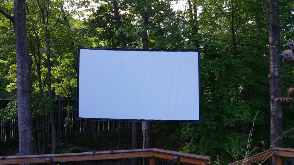 Floating Movie Screen, Black Out Cloth Movie Screen, EMT Movie Screen, DIY Movie Screen