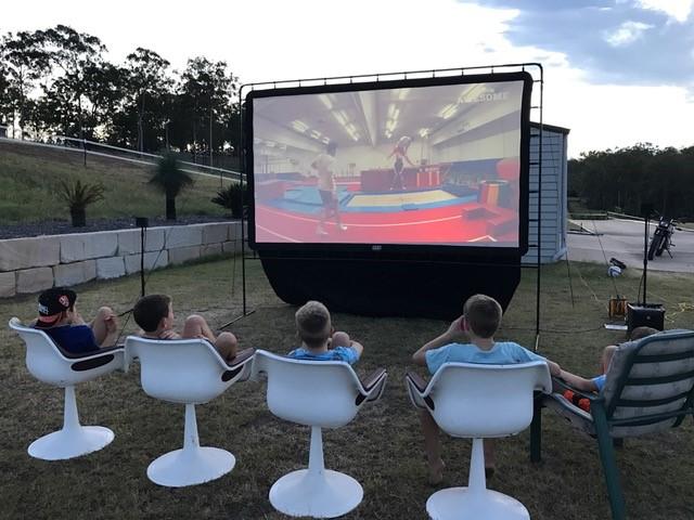 Backyard Movie, Backyard Movie Party, Camp Chef